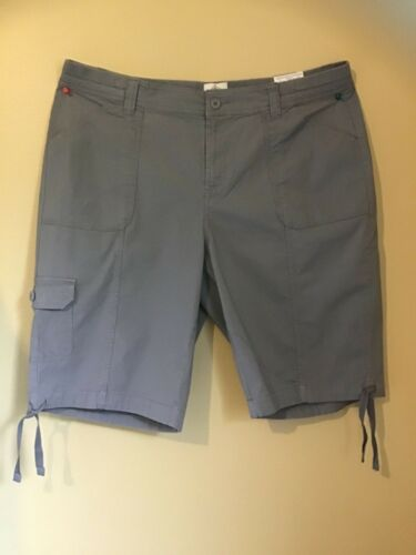 St New John's Bay Sort Bermuda cargo pLus Sz for women midi grey color