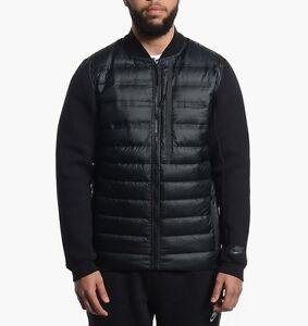Mens Nike Tech Fleece Aeroloft Bomber Black Jacket