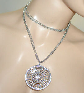1f63d8311af6 Detalles de COLLAR largo plata gargantilla mujer alambres colgante elegante  ceremonia A21