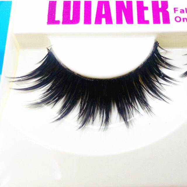 1 Pairs Natural Sparse Cross Eye Lashes Extension Makeup Long False Eyelashes RR