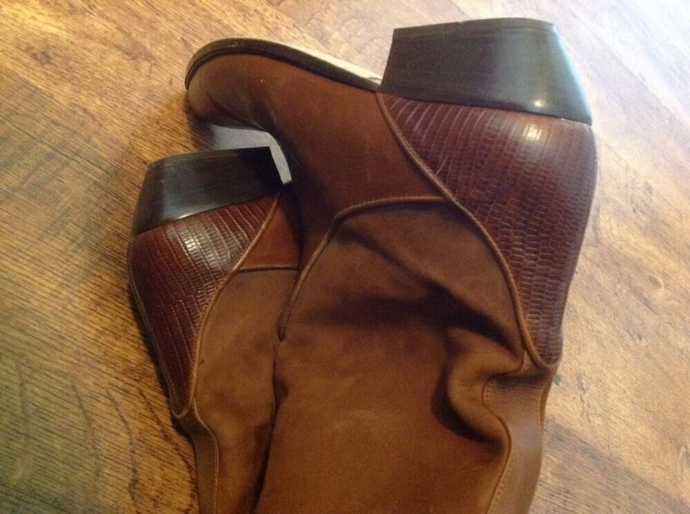 Via Spiga Alicia brown Calf Wedge Boot US 9 M #22