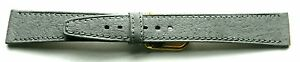16mm-FLEURUS-PECCARY-GRAIN-GREY-FLAT-LEATHER-WATCH-BAND-STRAP-SILKY-SOFT