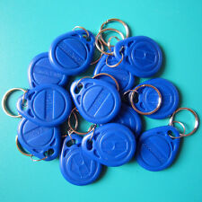 RFID 125KHz EM4100 TK4100 Proximity ID Token Tag Key Keyfobs Chain Blue-100pcs
