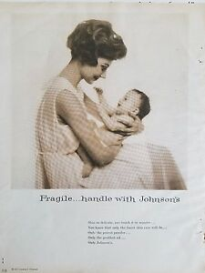 Details about 1959 Johnson And Johnson Mother Baby Products Original Print  Ad