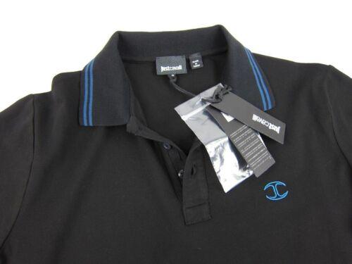 JUST CAVALLI Herren Men Polo Langarmshirt Longsleeve Schwarz Black S,M,L,XL,XXL