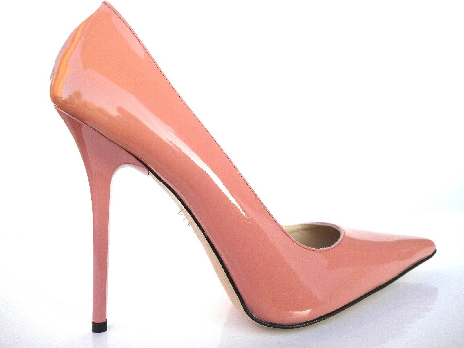 GIOHEL ITALIA HEELS POINTY TOE PUMPS shows Leather court shows PiNK NUDE