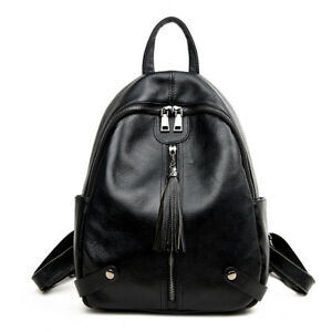 d0abdeecf0779 Details about 100% Real Genuine Leather Wome Korean Style Design Ladies  Travelling Backpacks