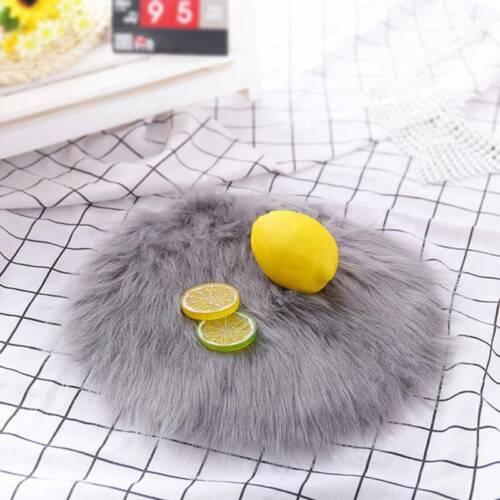 Soft Sheepskin Rug Nursery Artificial Wool Warm Hairy Carpet Small Chair Cover S