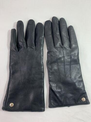 ELMA Women's Sheepskin Leather Super Soft Black Gl