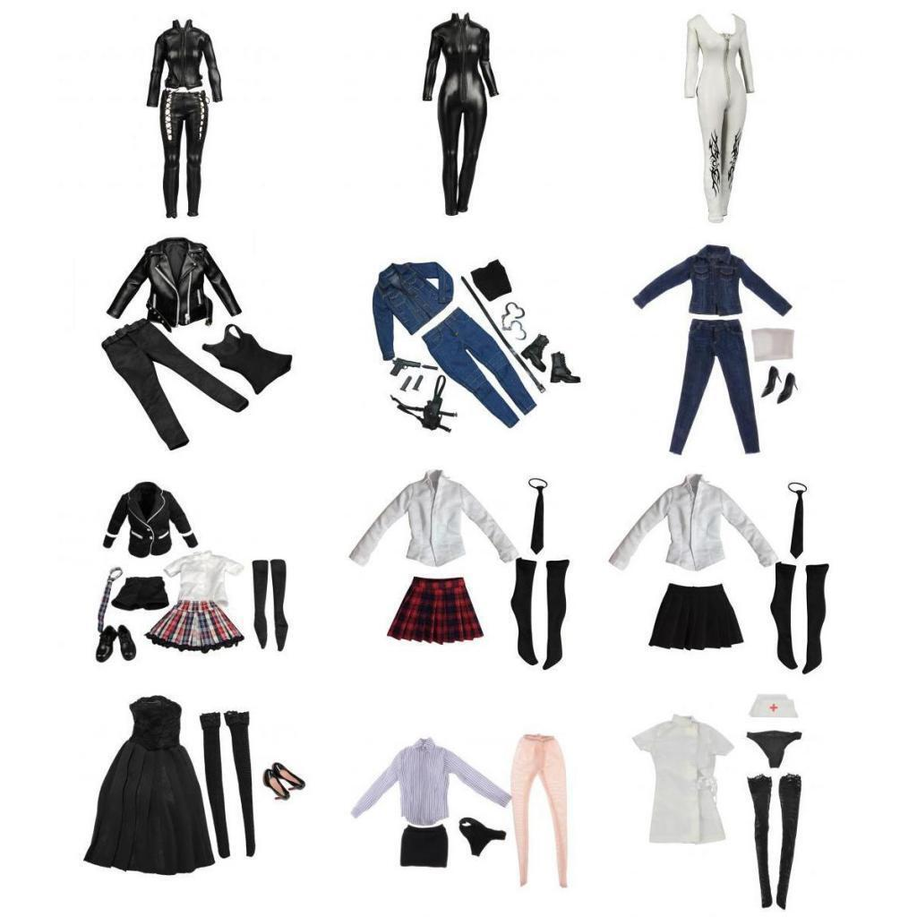 HOT SALE 1 6 Women's Outfits Clothes Set for 12'' Hot Toys Phicen Action Figure