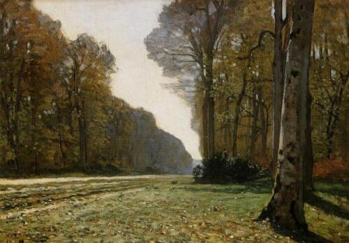 Le Pavé de Chailly 1865 by Claude Monet Giclee Print Repro on Canvas