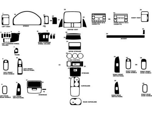 Rdash Wood Grain Dash Kit for Honda CR-V 2002-2004 Honey Burlwood