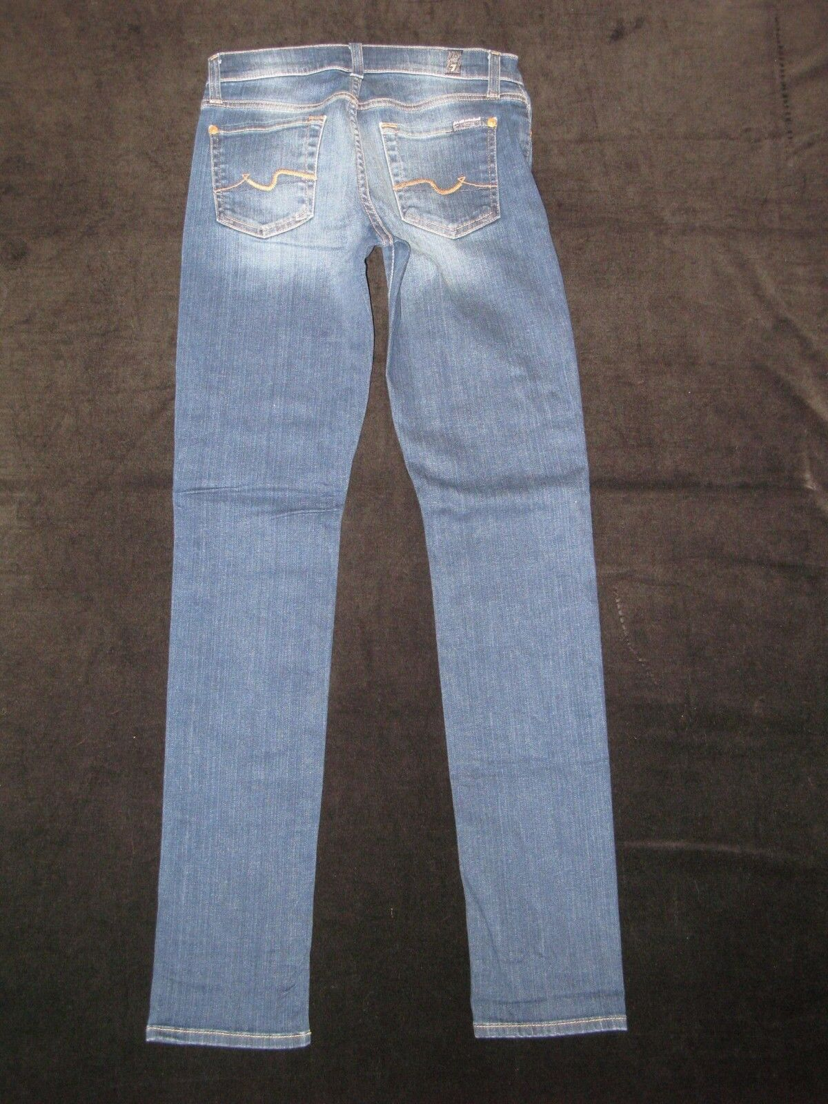 7 For All Mankind Roxanne Jeans Womens Sz 26 Mid Rise Skinny Distressed