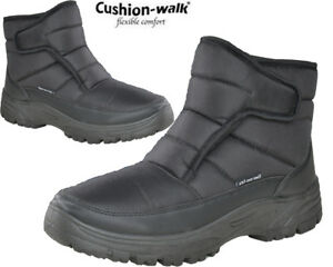 Mens-Cushion-Walk-Snow-Winter-Grip-Sole-Ankle-Boots-Warm-Lined-Thermal-Shoes-Sz