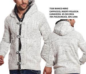 3159163269f629 Maglioni e cardigan Uomo: abbigliamento Giacca in Maglia Grossa Uomo  Maglione Cardigan di Lana Pesante Invernale Caldo