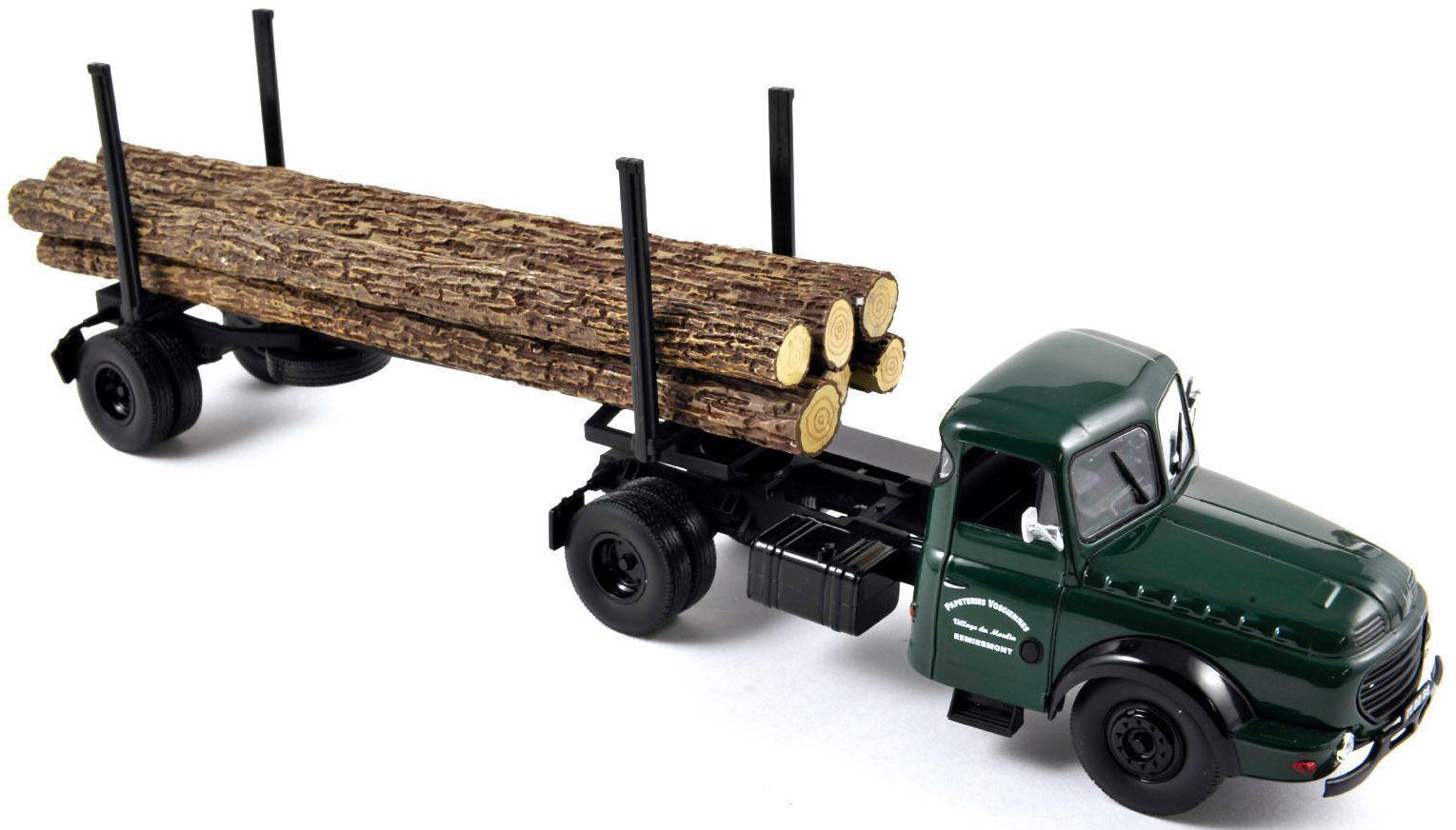 NOREV879996 - Camion 4x2 WILLEME LD610 avec remorque grumière 1 essieu - 1 43