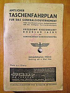 Original-Amtlicher-Taschenfahrplan-fur-das-Generalgouvernement-1942