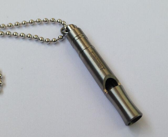 TIREMET Ti titanium Outdoor survival Key Chain Necklace pendant whistle Ti009