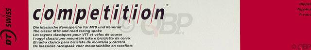 Nuevo DT Swiss Competition 2.0 1.8 292mm Plateado radios Caja de 100