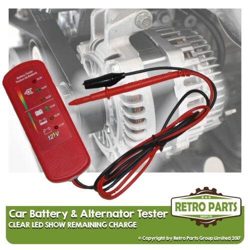 Batterie Voiture /& Alternateur Testeur pour TOYOTA STARLET 12 V DC Tension Carreaux