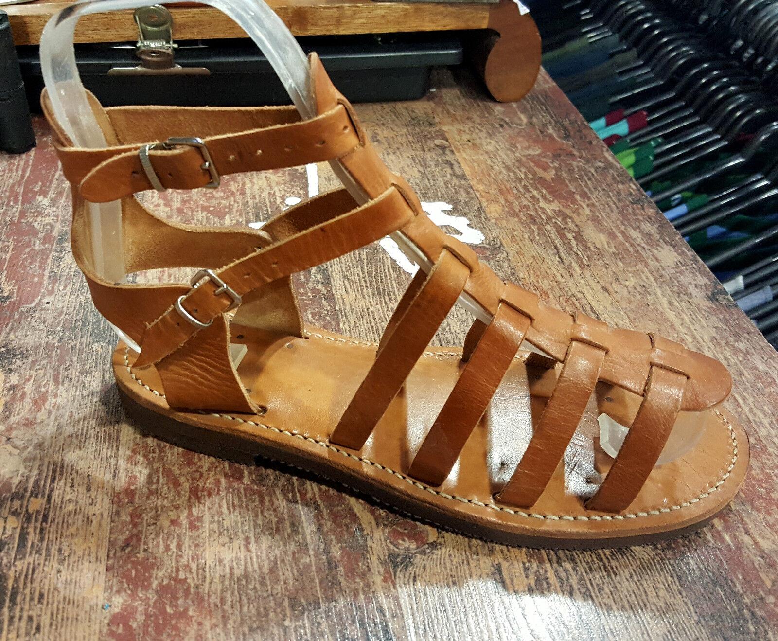 Fait Main Cuir Sandales grecques production Haut Classique Design Antique Style