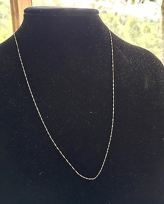 14K SOLID YELLOW GOLD VERY FINE Twist ITALY CHAIN NECKLACE - 22""