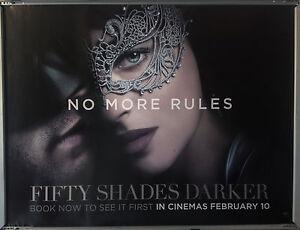 Cinema Poster Fifty Shades Darker 2017 Rules Quad Dakota Johnson Ebay