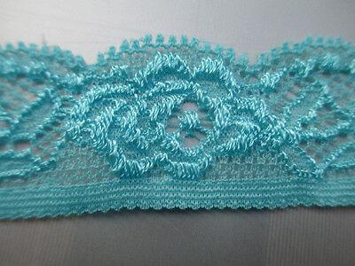 Beautiful! Super-elastic stretch lace (rose/pink/blue/orange) 10/20/50/100 yards