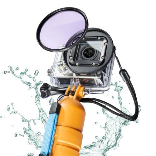 Mantona filtro magenta para GoPro 52mm contra verde pinchazo en bajo el agua grabaciones