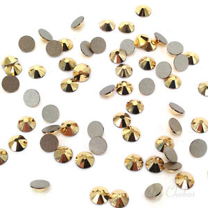 54ea8af96 Image is loading 1440-Swarovski-2058-flatback-rhinestones-nail-art-gold-