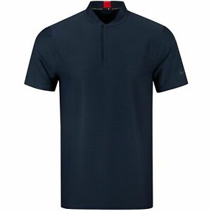Nike-Dri-Fit-Tiger-Woods-Collection-Navy-Blue-Blade-Collar-TW-Golf-Polo-MEDIUM