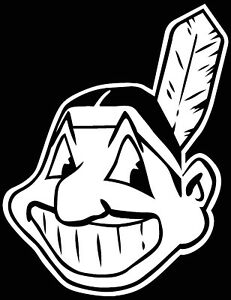 Cleveland Indians Chief Wahoo Logo Car Decal Vinyl Sticker White 3