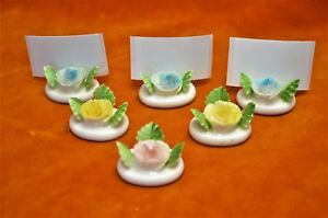 Lot de 6 Porcelaine CHINE Fleur Place Nom Menu Holders-afficher le titre d`origine nRdjlQVC-09091906-113853818