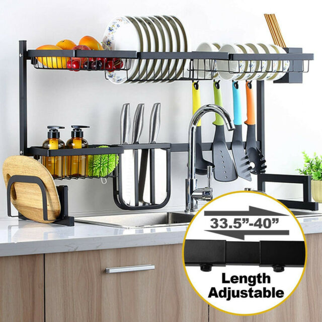 Expandable Dish Drying Rack Over Sink Display Drainer Kitchen Utensils Holder T For Sale Online