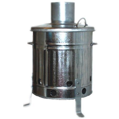 Mini Garden Incinerator Small Fire Burning Bin 15l Litre