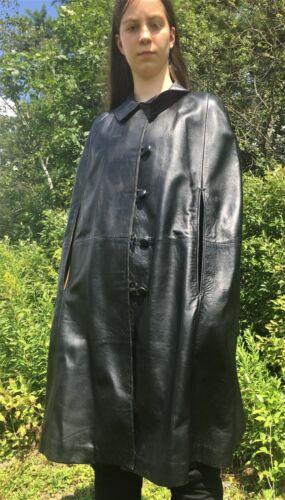 Vintage Leather Cloak
