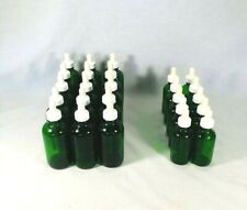 Lot Of 25 Used Green Glass Dropper Bottles With Glass Droppers 2 Sizes