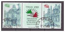 ITALIA 1985 - ESPOSIZIONE ROMA 85  - Lire  250  BLOCCO   USATO