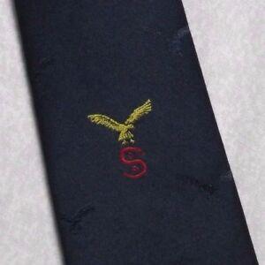 VINTAGE-DEL-REGGIMENTO-Cravatta-Da-Uomo-Cravatta-club-associazione-Eagle-Crested