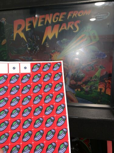 2000 Bally Revenge From Mars Pinball Drop Target Stickers//Decals 17 Brand New