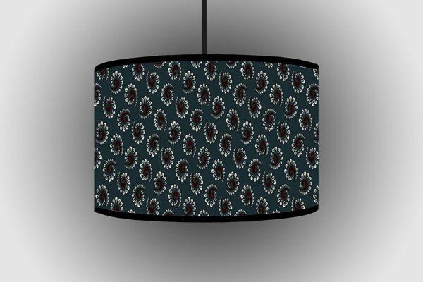 100% Vero 30cm Grigio Circolare Design Paralume Da Appendere Paralume Fatto A Mano Lampada Da Soffitto A Tamburo Meno Caro