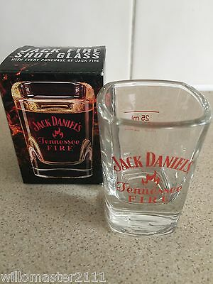4   RARE JACK DANIELS TENNESSEE FIRE SHOT GLASSES UK EDITION  IN BOXES