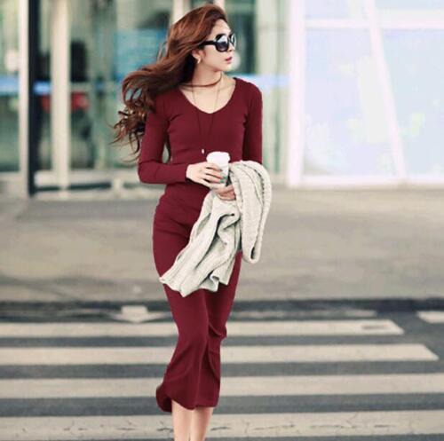Women/'s Long Knit Dress Wool Slim Fit Turtleneck Maxi Sweater Casual Dress Ths01