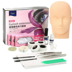 Mannequin-Entrainement-Tete-Maquillage-Faux-Cils-Extension-Colle-Pratique-Outils
