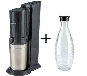 SODASTREAM wassersprudler Crystal, 0,6 L Caraffa di vetro, senza cilindro in alluminio, geb