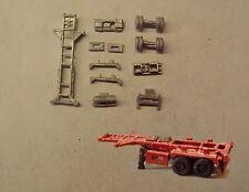 P&D Marsh N Gauge N Scale MV221 20ft Skeletal trailer (3) kit requires painting
