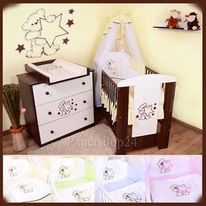 Das Bild Wird Geladen Kinderzimmer  Kinderbett Wickelkommode 034 Teddybaer 034 Bestickte Ausstattung