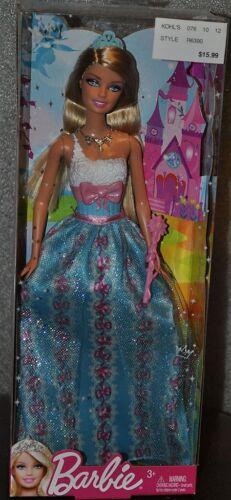 Barbie Modern Princess Party Doll Blonde Blue Dress 2011 Girl NEW