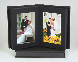 Professional Slip In Album Charcoal 8x10 20 Photos Black Pages Ebay