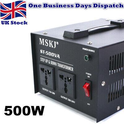 500W Voltage Converter Transformer Step Up//Down 220V-110V UK to US US to UK